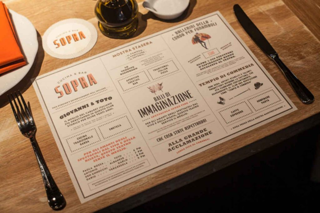 Печать сетов для ресторанов
